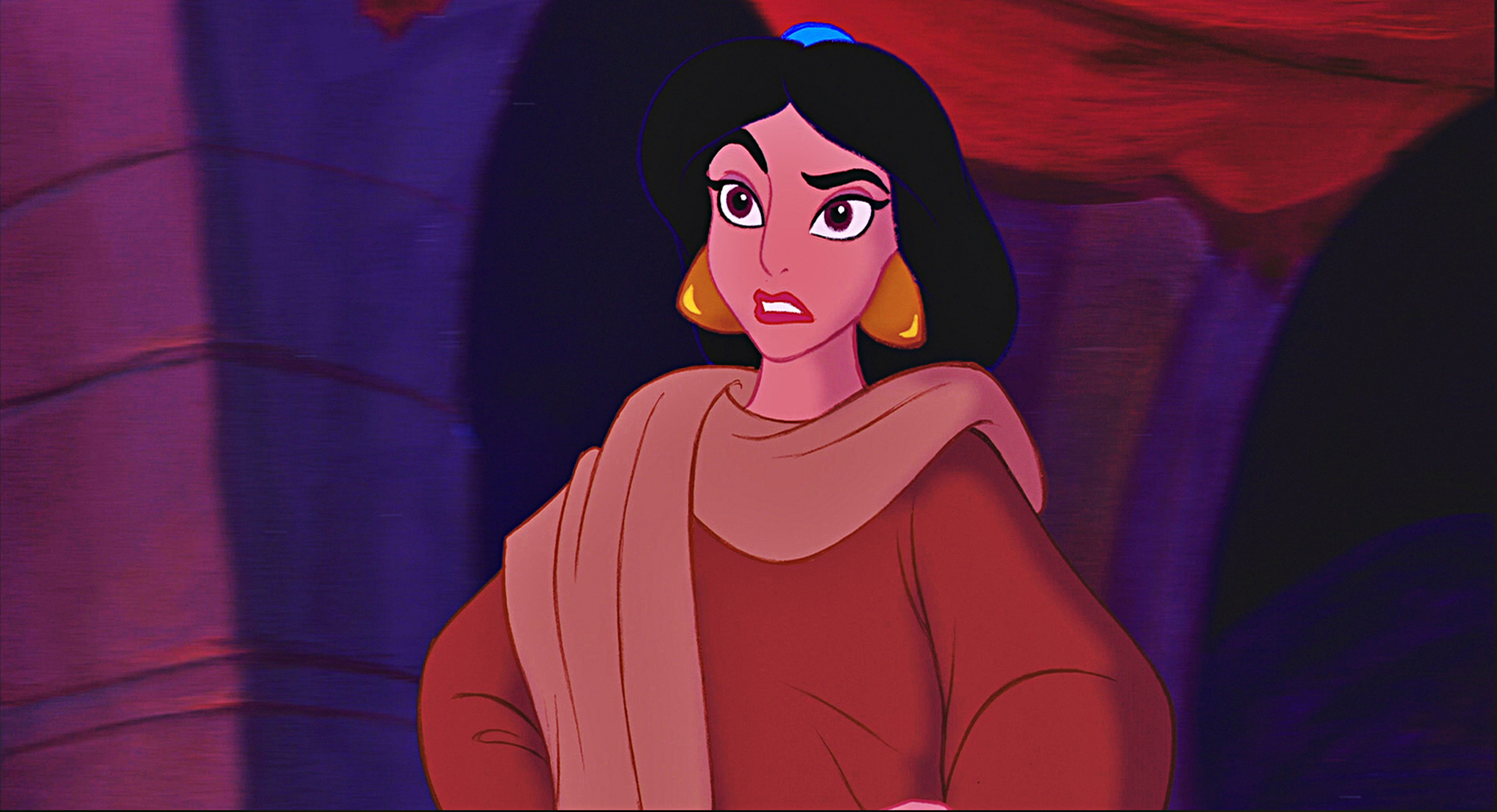 Princess Jasmine Al-Hamed is a fictional character who appears in Walt Disney Pictures' 31st animated feature film Aladdin (1992) and its sequels The Return of Jafar (1994) and Aladdin and the King of Thieves (1996), as well as its television series.