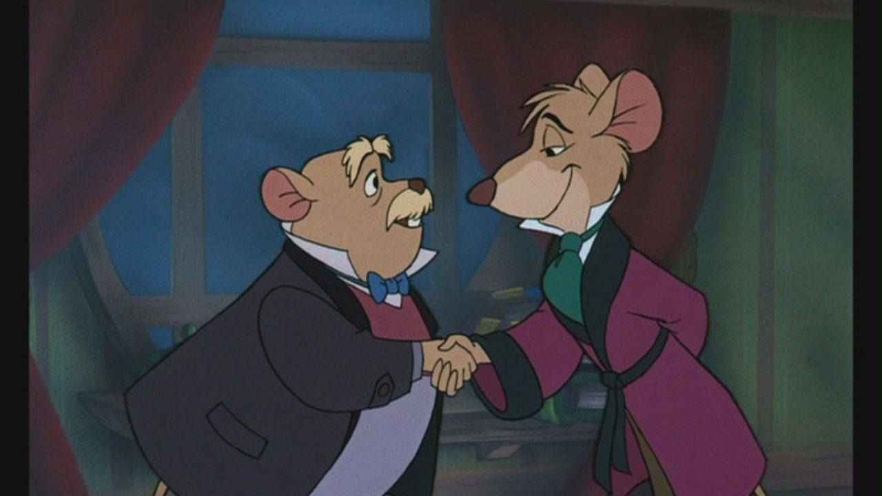 The Great Mouse Detective is a 1986 American animated mystery film produced by Walt Disney Feature Animation, originally released to movie theaters on July 2, 1986 by Walt Disney Pictures. The 26th feature in the Walt Disney Animated Classics, the film was directed by Burny Mattinson, David Michener, and the team of John Musker and Ron Clements, who later directed Disney's hit films The Little Mermaid and Aladdin. The film was also known as The Adventures of the Great Mouse Detective for its 1992 theatrical re-release and Basil the Great Mouse Detective in some countries.